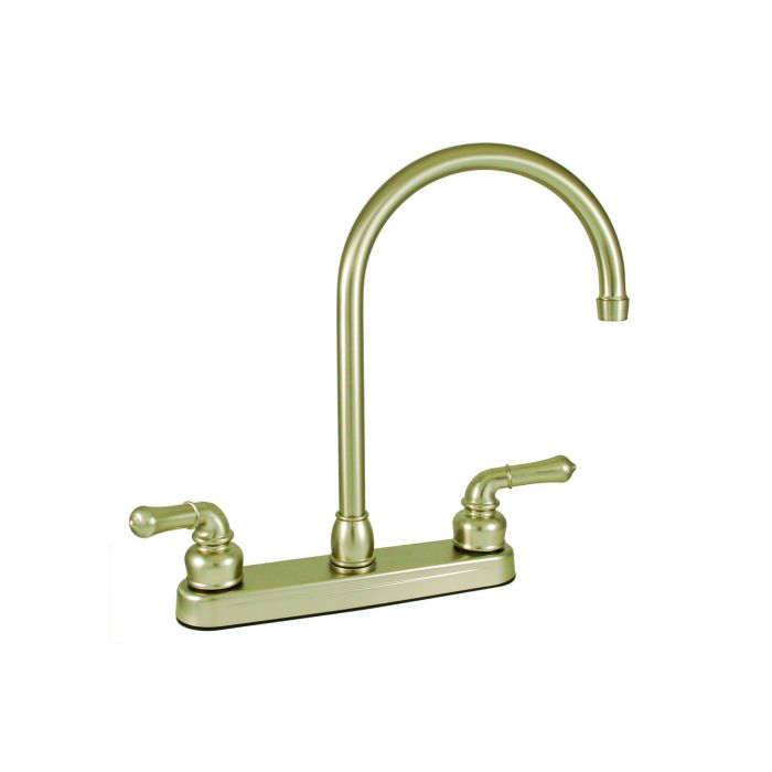 Brushed Nickel RV/Mobile Home Kitchen Faucet Faucet with Gooseneck on mobile home replacement tubs, mobile home replacement kitchen sinks, mobile home replacement kitchen cabinets, mobile home replacement shower,